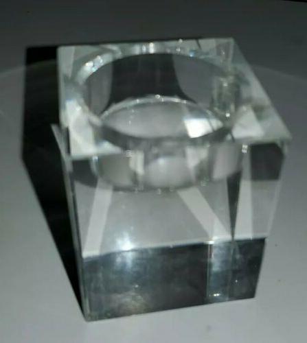 Amazing Home Holders Set Elegant Heavy Glass Tealight