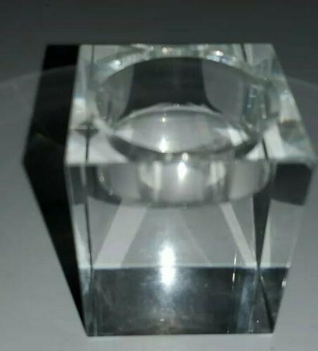 Amazing Crystal Candle Holders Set Of Elegant Glass Cuboid Tealight