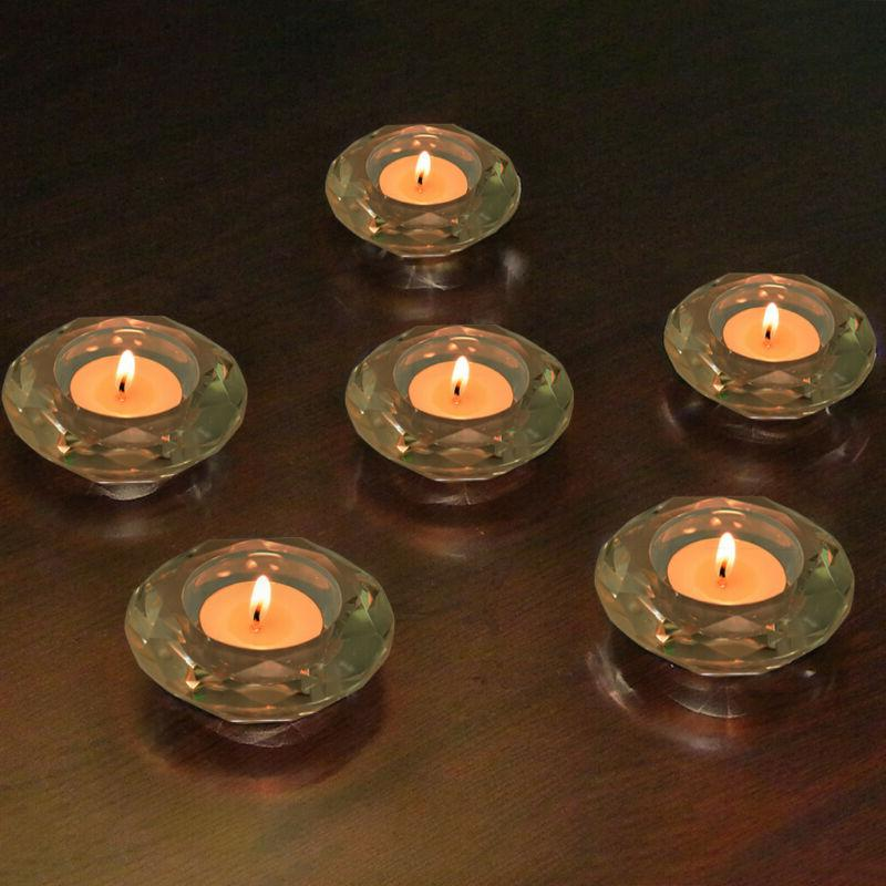 Crystal Diamond Tealight Candle Holder Clear Set Of 6 Crysta