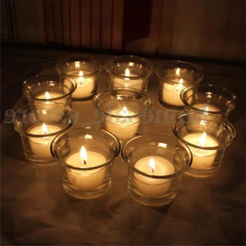 Crystal Glass Votive Candle Holder Romantic Wedding Bar Part