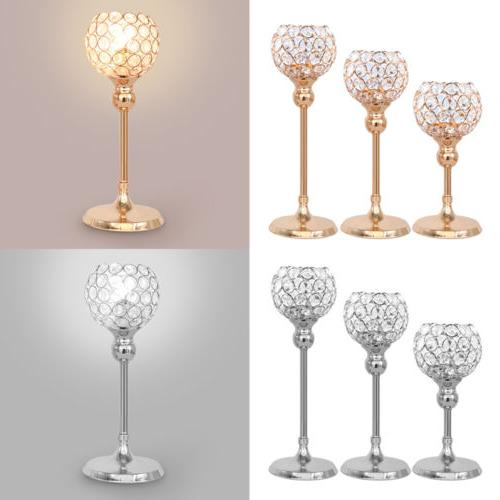 Crystal Hollow Candle Lamp Light Candelabra