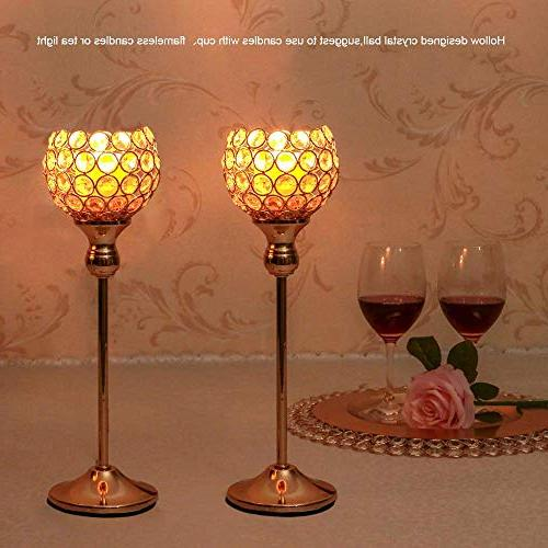 VINCIGANT Crystal Candle Decorative Candlelight Dinner Gifts