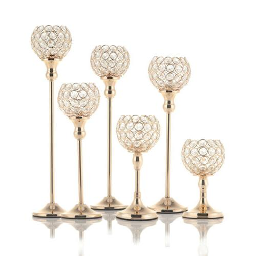 1pc crystal candle holders candlesticks dining room