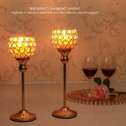 Crystal Votive Candlestick Wedding Candelabra