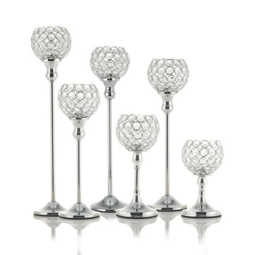 crystal votive candle holder candlestick party wedding