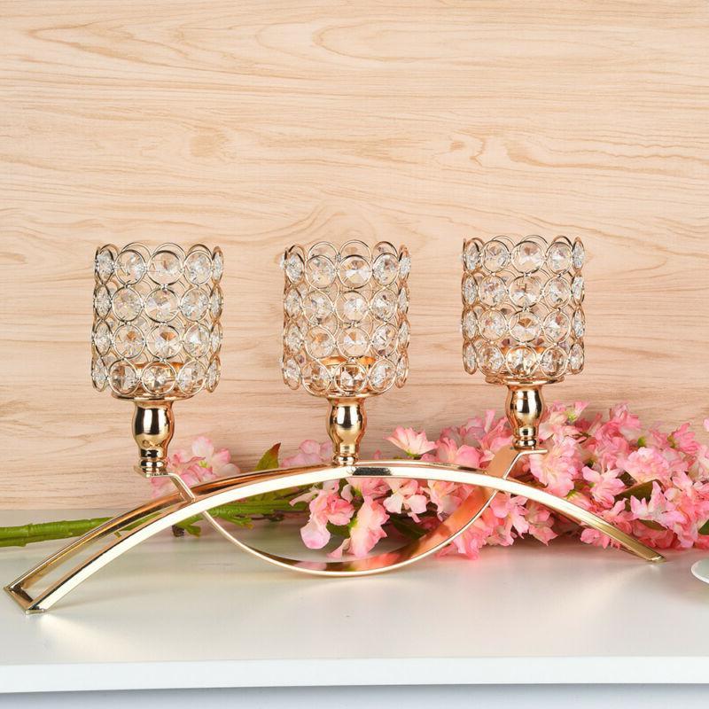 Wedding Party Table Tealight Candlestick Decor