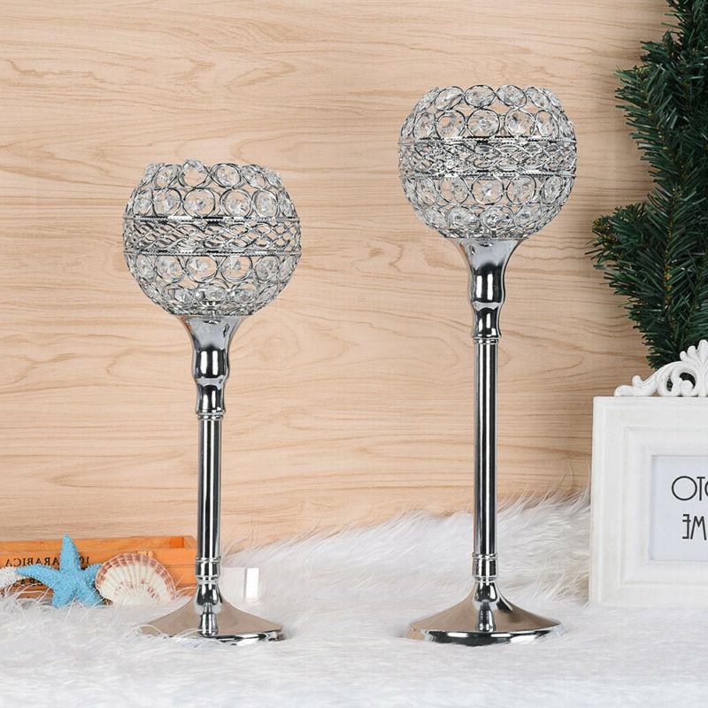 Crystal Votive Candlesticks Candle Holder Wedding Event Banq