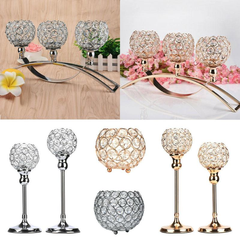crystal wedding party event table tealight votive