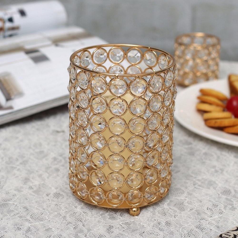 Cylinder <font><b>Holders</b></font> Metal Stand Vase Home Wedding Centerpieces