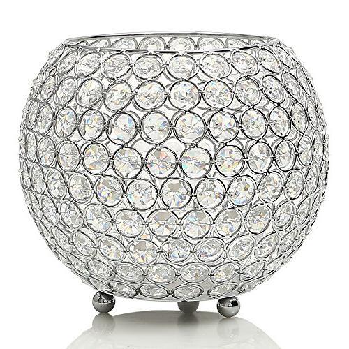 decorative crystal clear display vases