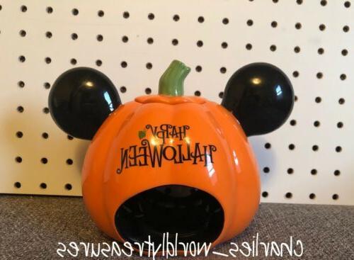 Disney Mouse Pumpkin Votive Ceramic NEW