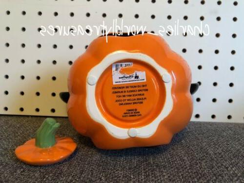 Disney Parks Pumpkin Votive Holder Ceramic NEW