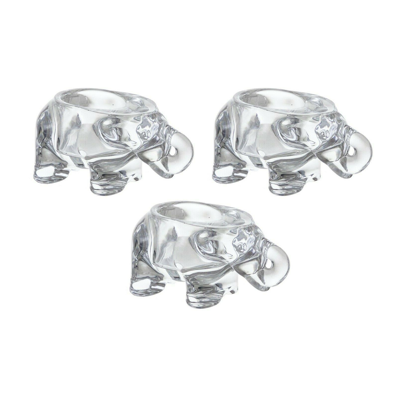 elephant glassware votive tea light