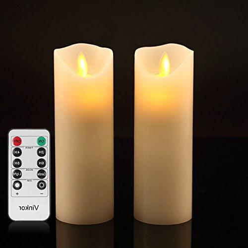 flameless candles flickering