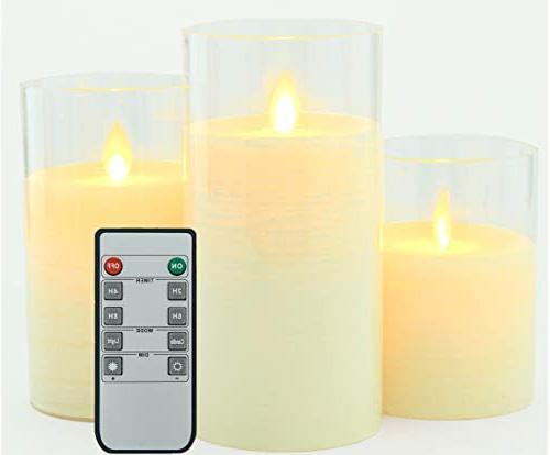flameless candles set drip