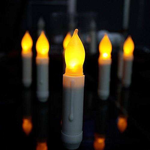 flameless window taper candles battery