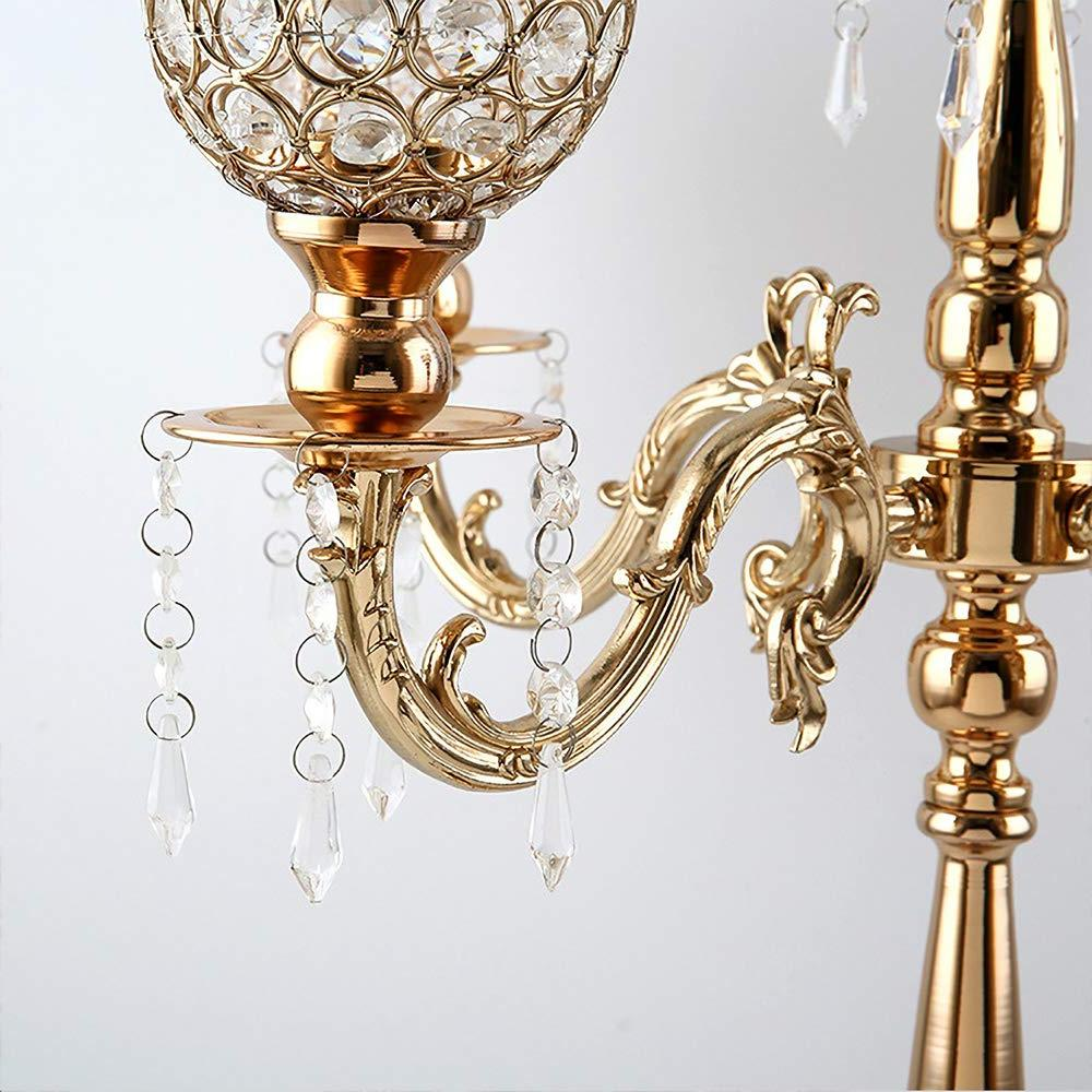 <font><b>VINCIGANT</b></font>5 Arms Holiday Decorative Centerpiece Crystal Dinner Party and Event Ce