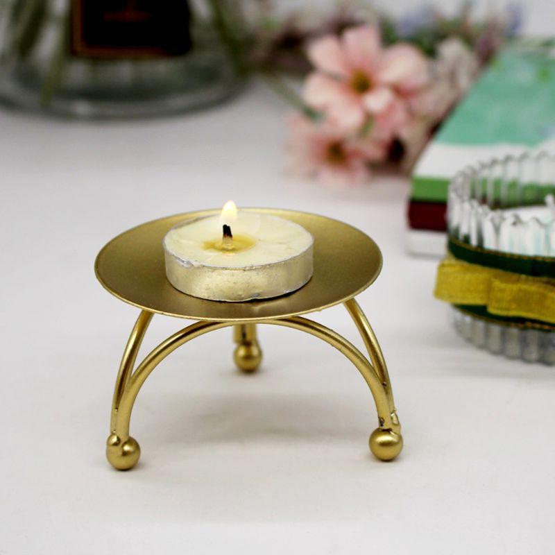 Geometric Circular Iron Candlestick Three-Dimensional Creati