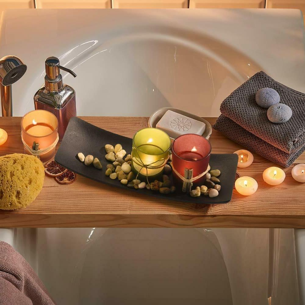 Best Tea Light Candle Holder Set 3 Decorative Rocks & D
