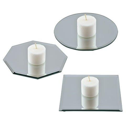 glass round beveled centerpiece table