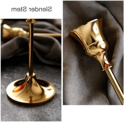 Gold Metal Candlesticks of Out of Box