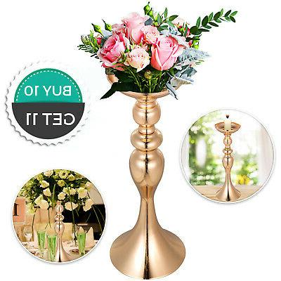 gold centerpieces for wedding candle holder 10pcs