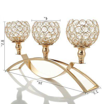 VINCIGANT Crystal Candle Holders Table