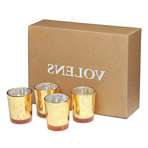 Volens Holders, Glass Tealight Candle Holder Set 12