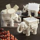 HK- Lucky Elephant Tea Light Candle Holder Candlestick Party