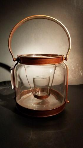 Yankee Candle Hurricane Lantern Candle Holder Gold Bronze