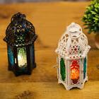 IK- Moroccan Style Glass Lantern Tea Light Candle Holder Wed