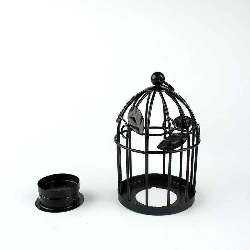 Iron Candlestick Lantern