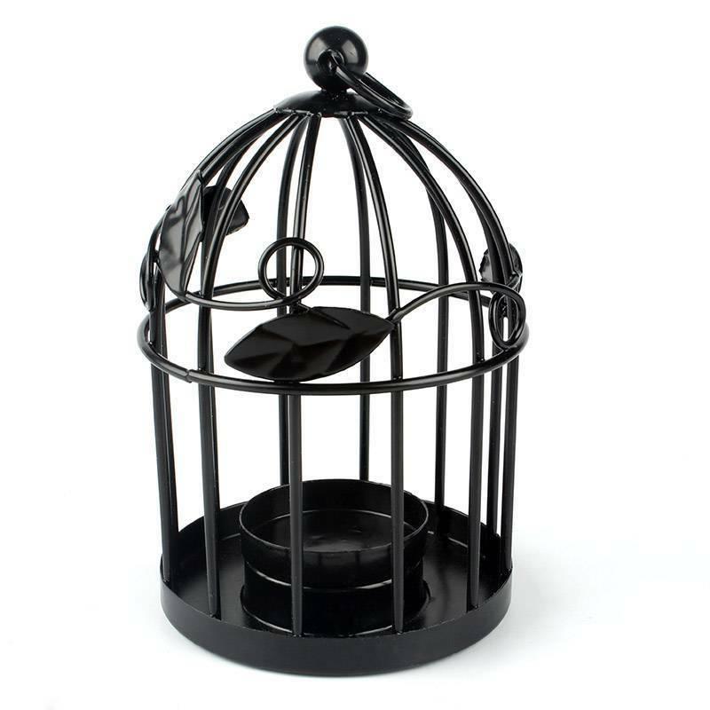 Iron Hanging Holder Candlestick Cage Lamp Lantern Wedding Home Decor