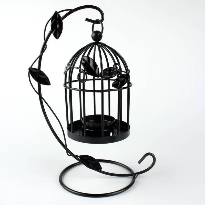 Iron Candlestick Cage Lantern