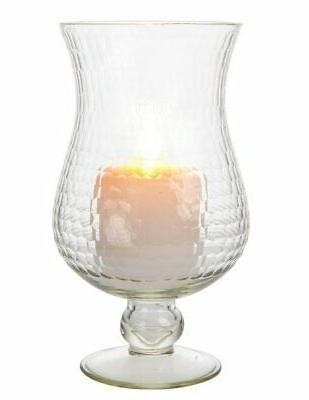 large glass hurricane candle holder 5 inch