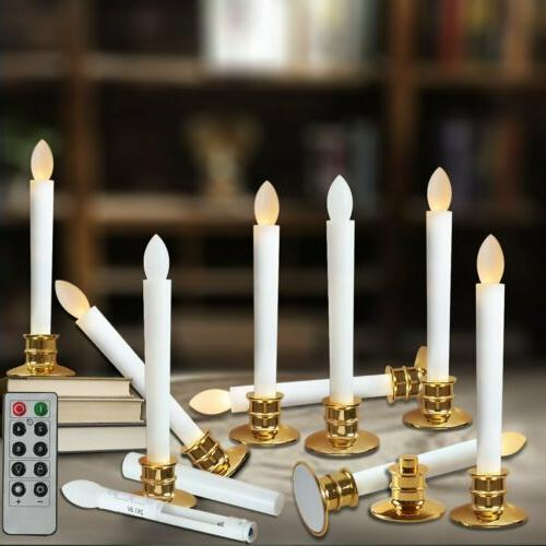 led flameless taper candle light electric candles
