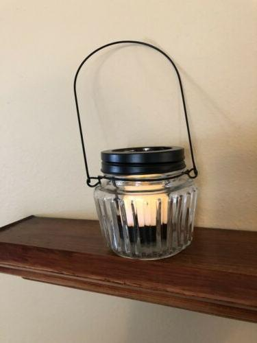 Mason Candle Holder With New