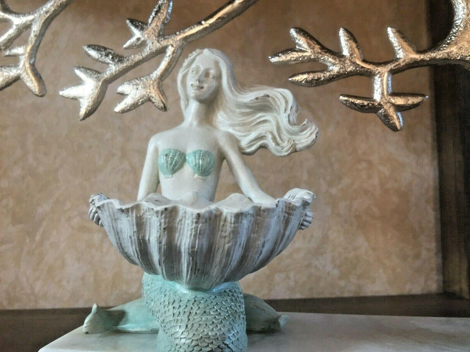 Mermaid White & Candle Holder. Accent