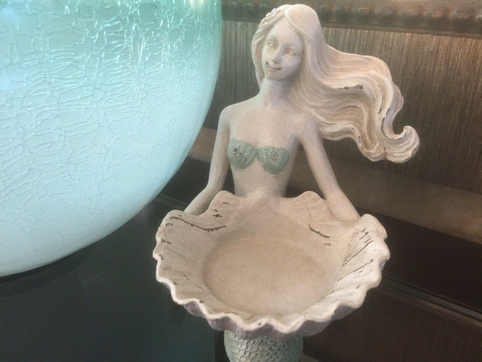 Mermaid White Candle Accent