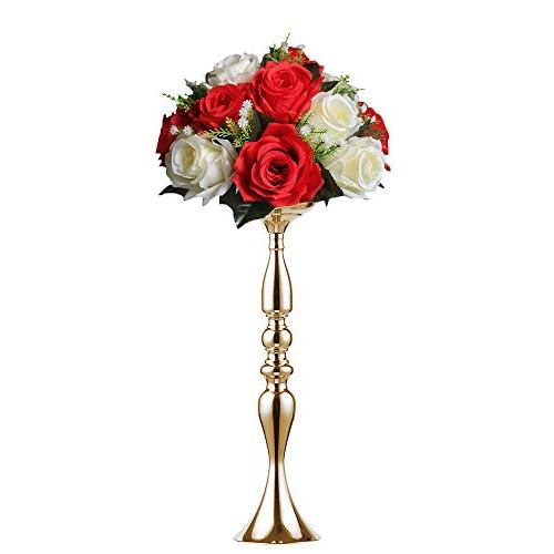 2 pieces 50cm height metal candle holder candle stand weddin
