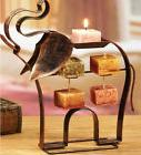 Metal Elephant  Candle on Rope Holder With Harmony Scented C