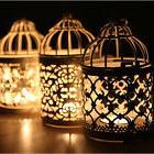 metal hollow candle holder tealight candlestick hanging
