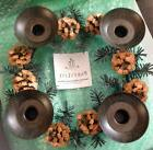 Partylite Metal Pinecone Candle Holder Wreath - P8246 - New