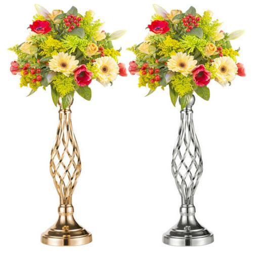 metal vase centerpiece stand candle holder wedding
