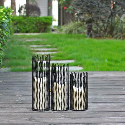 Metal Willow Holder - of 3, Black,