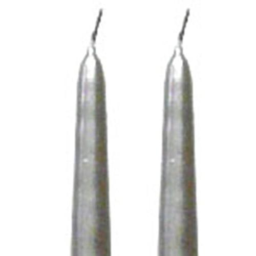 metallic silver taper