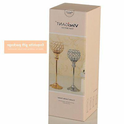 VINCIGANT Modern Silver Crystal Candle Candle for