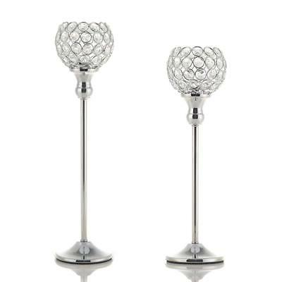 modern silver crystal candle holders decorative candle