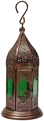 SouvNear 9.1 Inch Moroccan Lantern - Handmade Hanging Tea Li