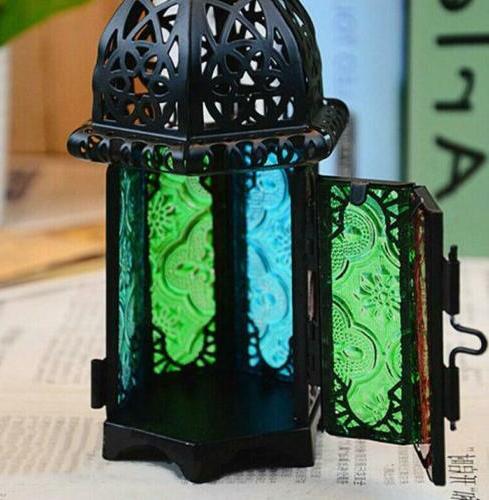 Moroccan Lantern Tea Hanging Light Lamp Votive Candle Holder